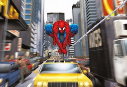 Spiderman rush hours wall mural